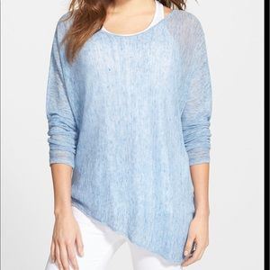 Eileen Fisher Linen Asymmetrical Top